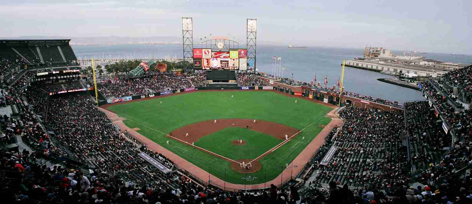 Oracle Park, formerly known as AT&T Park. (Photo by Bspangenberg / Wikipedia)