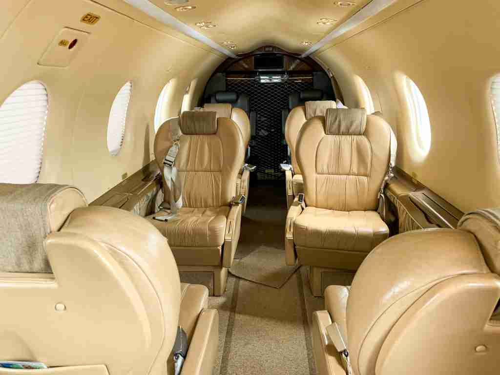 Interior on Boutique Air flight from Denver to Telluride (Photo by Summer Hull / The Points Guy)