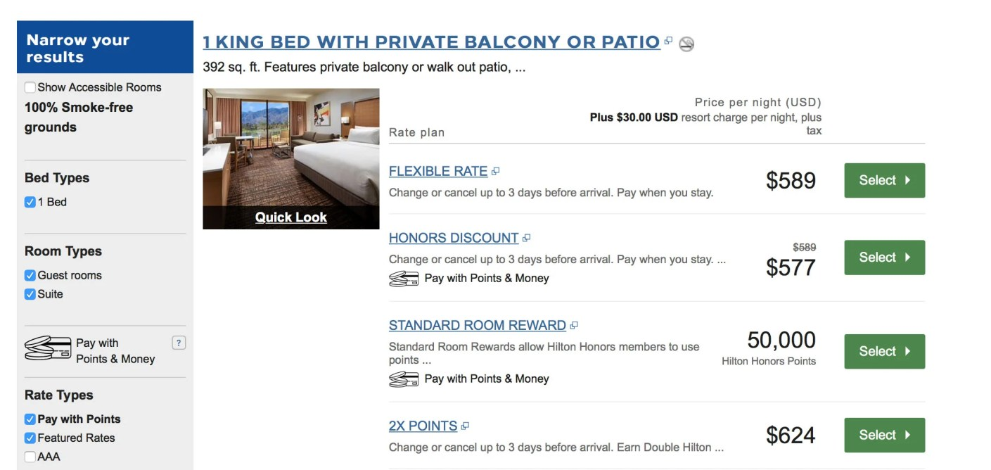 50,000 Hilton Points instead of $589/night (plus tax) is a good deal.