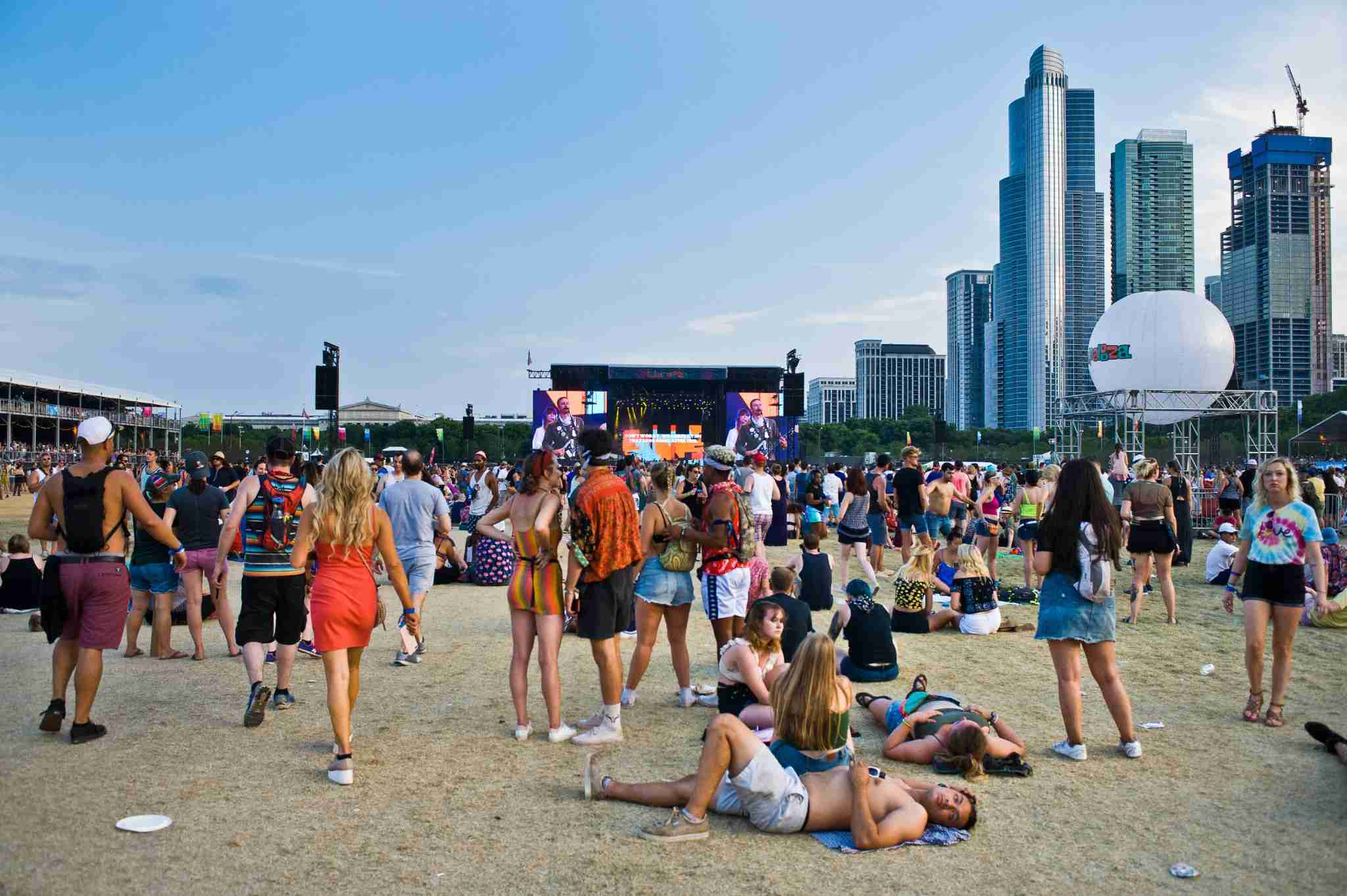 Festival Goers at Lollapalooza 2018 (Photo by Timothy Hiatt/WireImage)