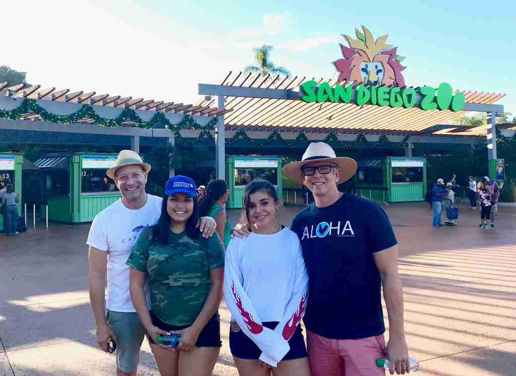San Diego Zoo entrance with family