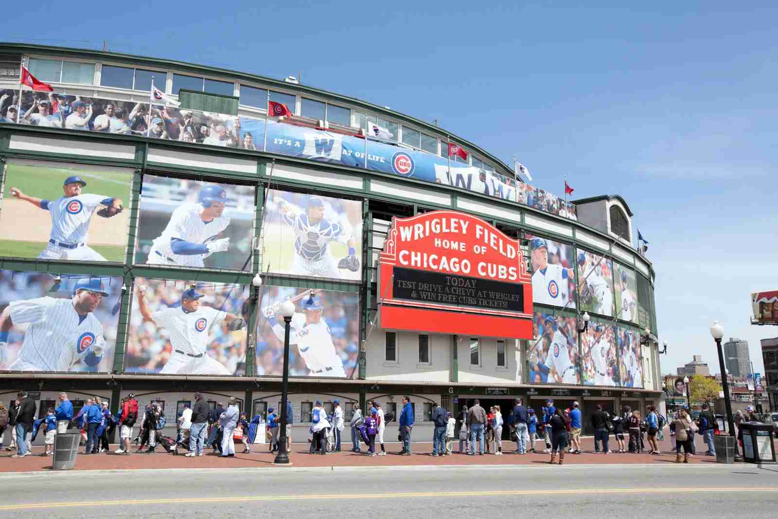 Outside Wrigley Field. (Photo by Kubrak78 / Getty Images)