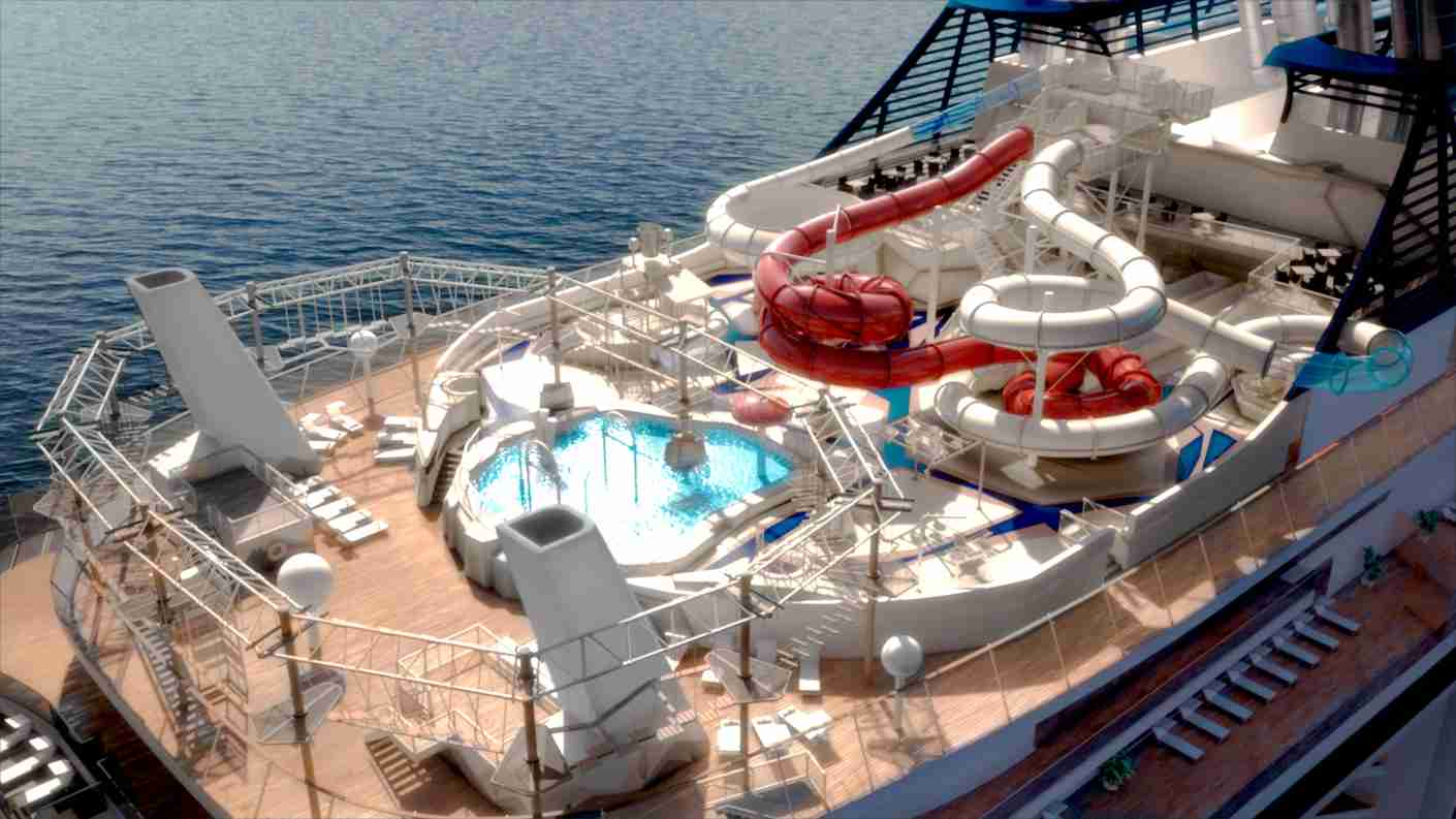 The water park atop the MSC Bellissima. (Photo courtesy of MSC Cruises)