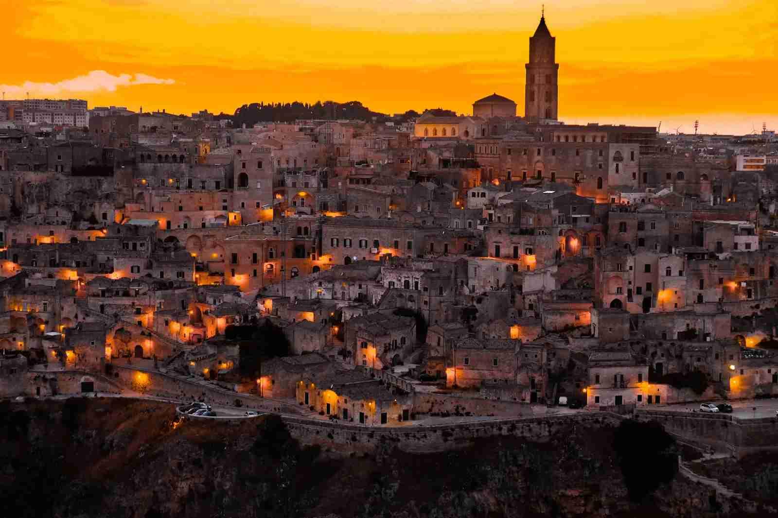 A Matera, Italy nightscape. (Photo by Daniele Levis / Unsplash)