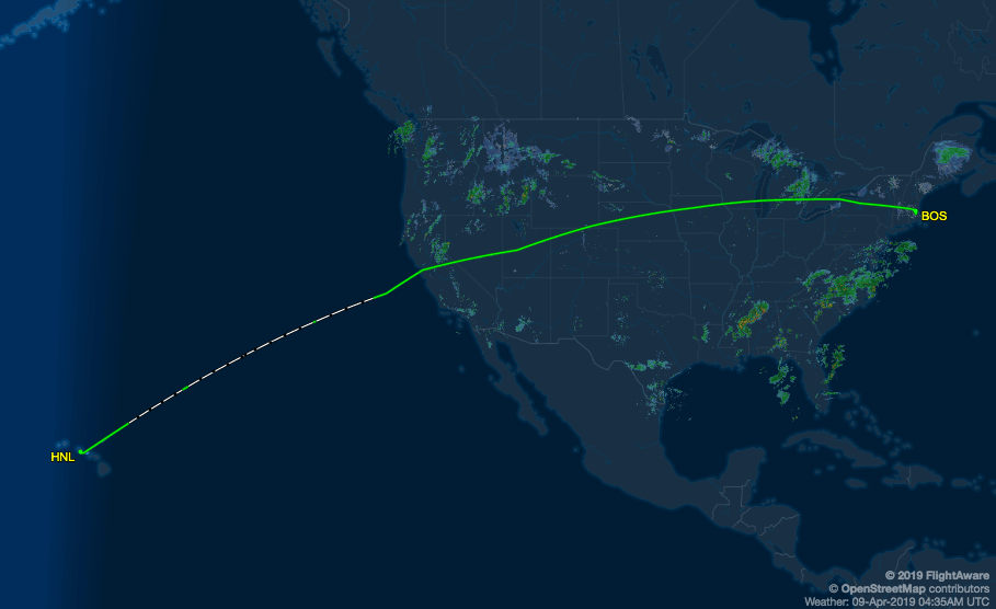 Image courtesy of FlightAware