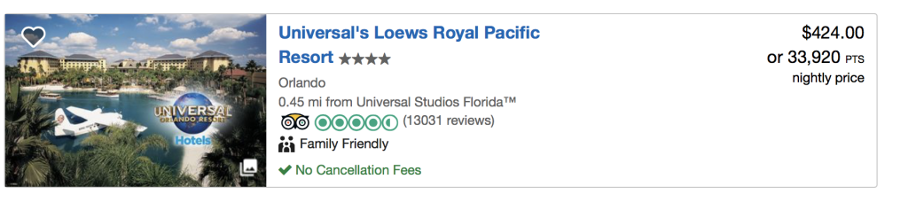 Use Points to Save Money at Universal Orlando