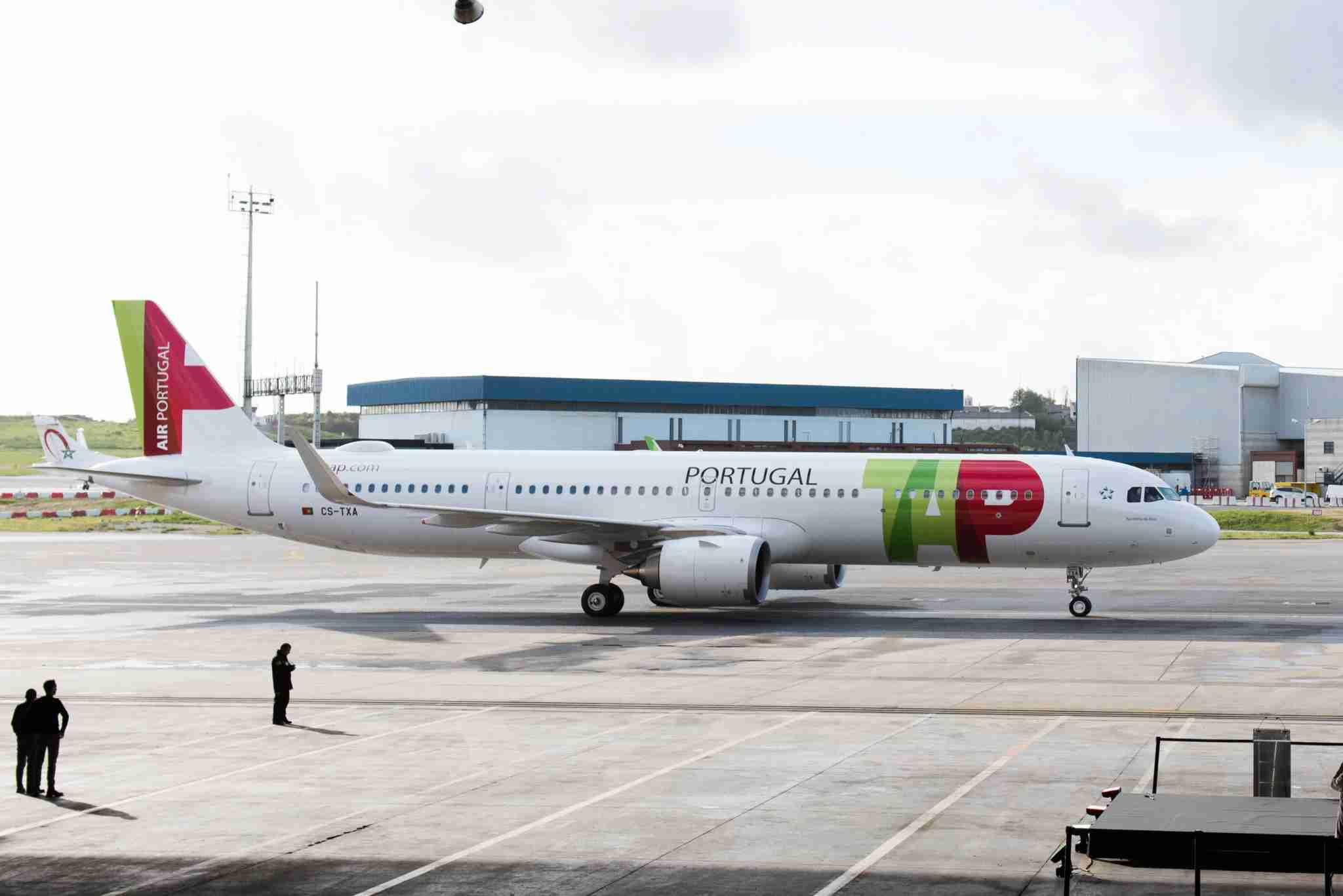 A TAP Air Portugal Airbus A321LR. (Photo courtesy of TAP Air Portugal).