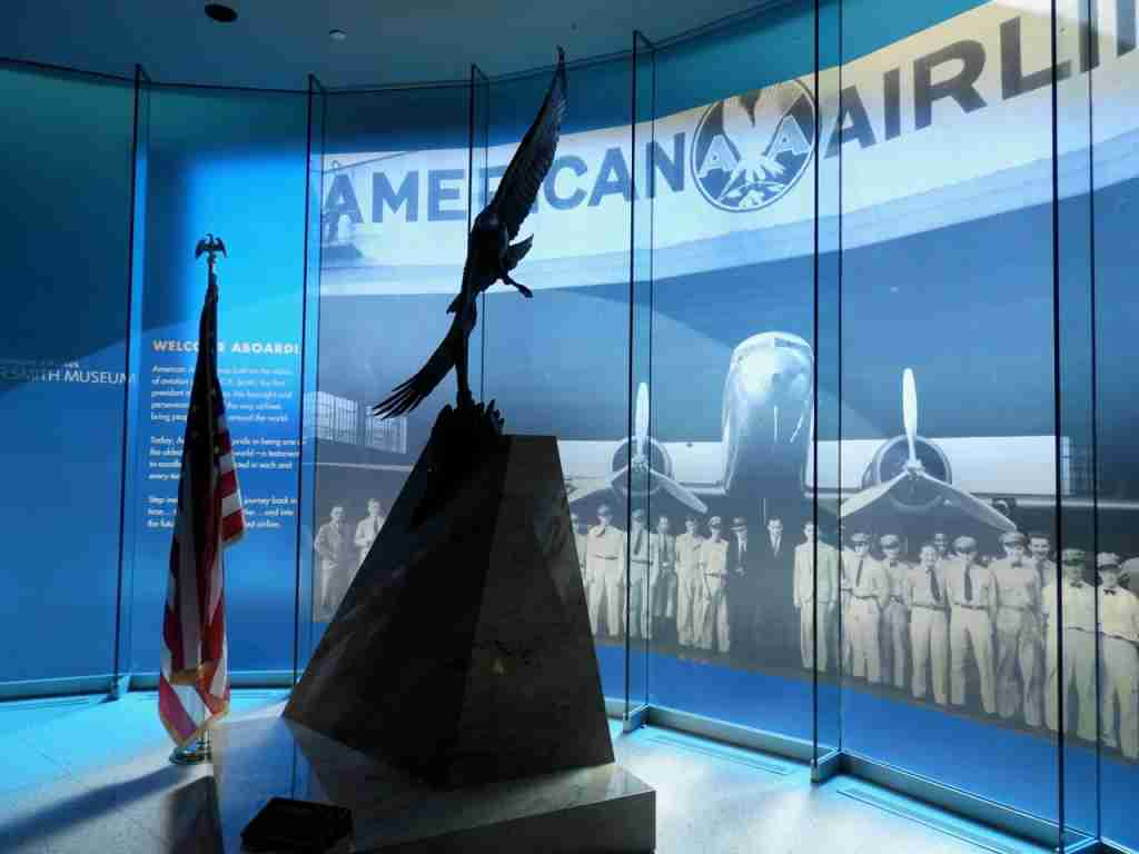 The impressive entry into the American Airlines CR Smith Museum