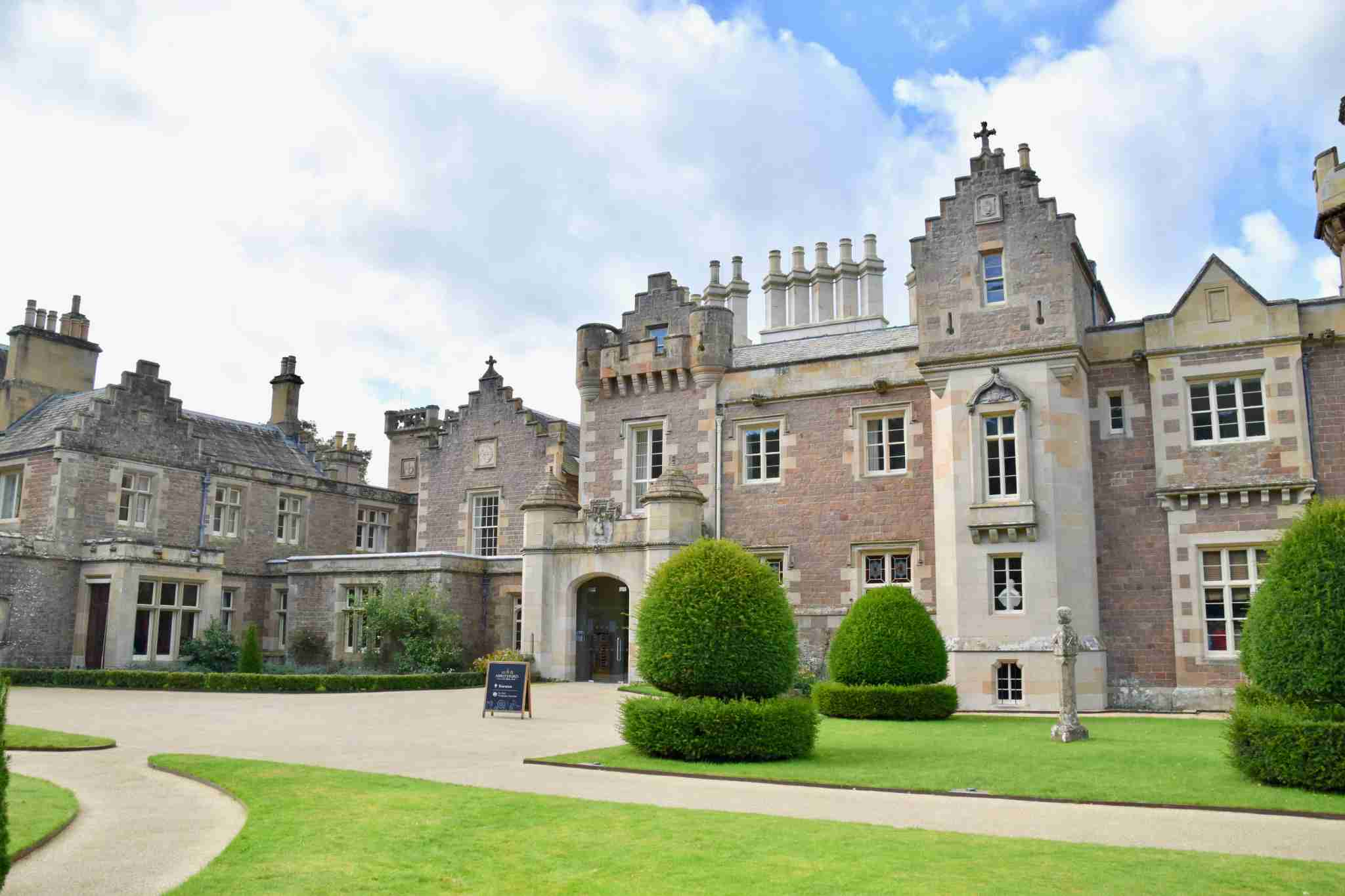 Abbotsford Manor in Scotland was the home of Sir Walter Scott.