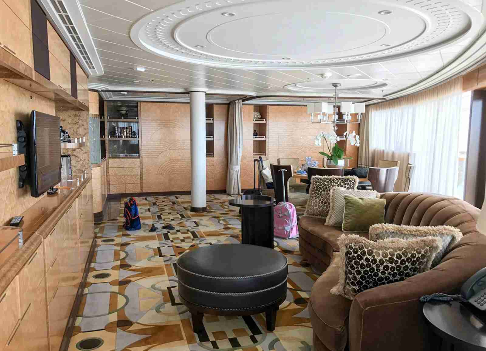 The Grand Suite aboard Royal Caribbean