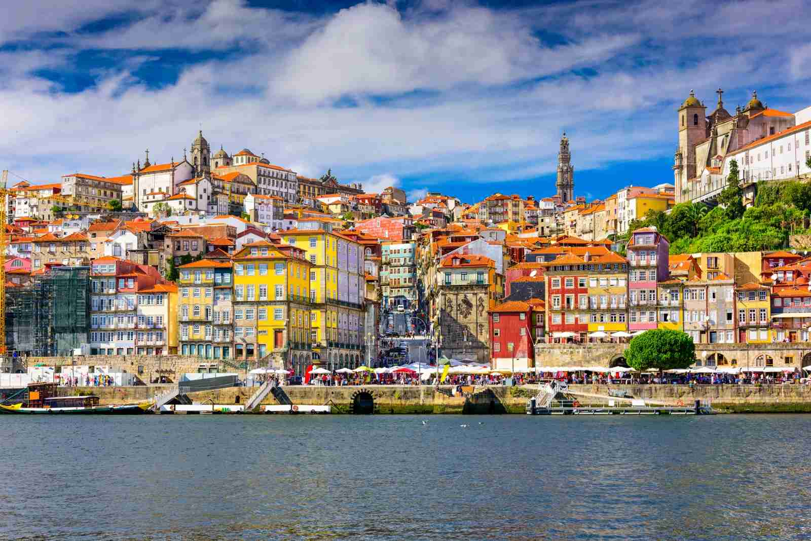 Porto, Portugal skyline from across the Douro River. (Photo by ESB Professional / Shutterstock)