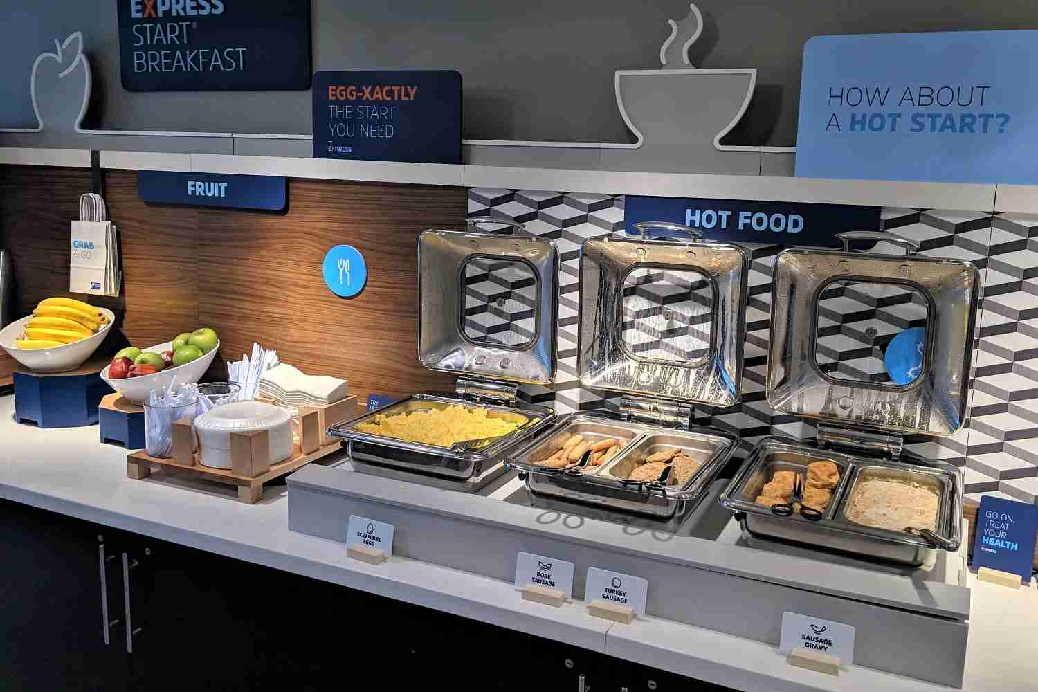 Breakfast spread at the Holiday Inn Express & Suites Columbia-I-26 @ Harbison Blvd. Photo by JT Genter/TPG.