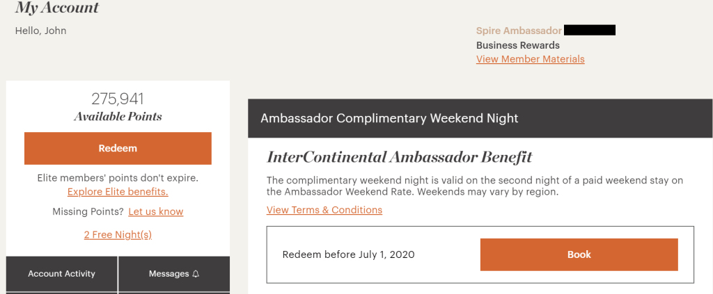 How to Book an InterContinental Ambassador Free Night