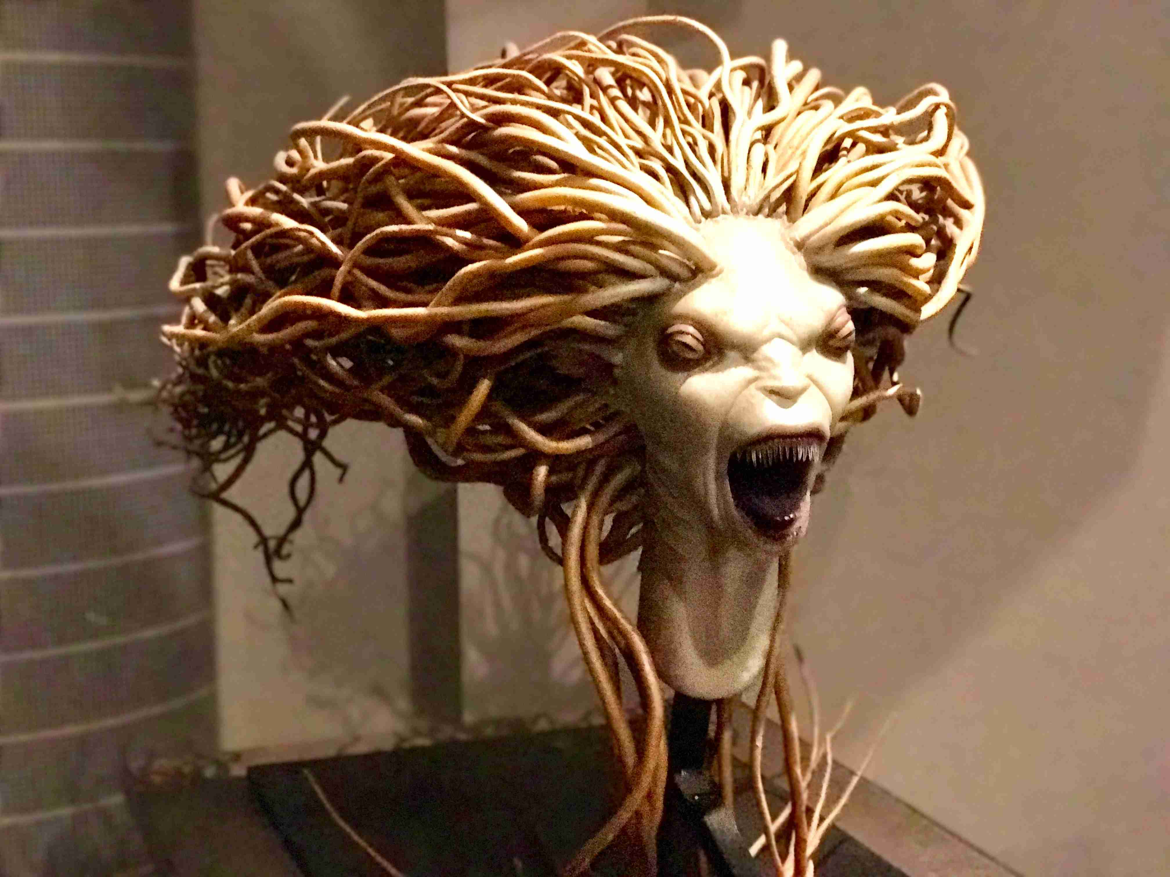 scary mermaid head Harry Potter Studios