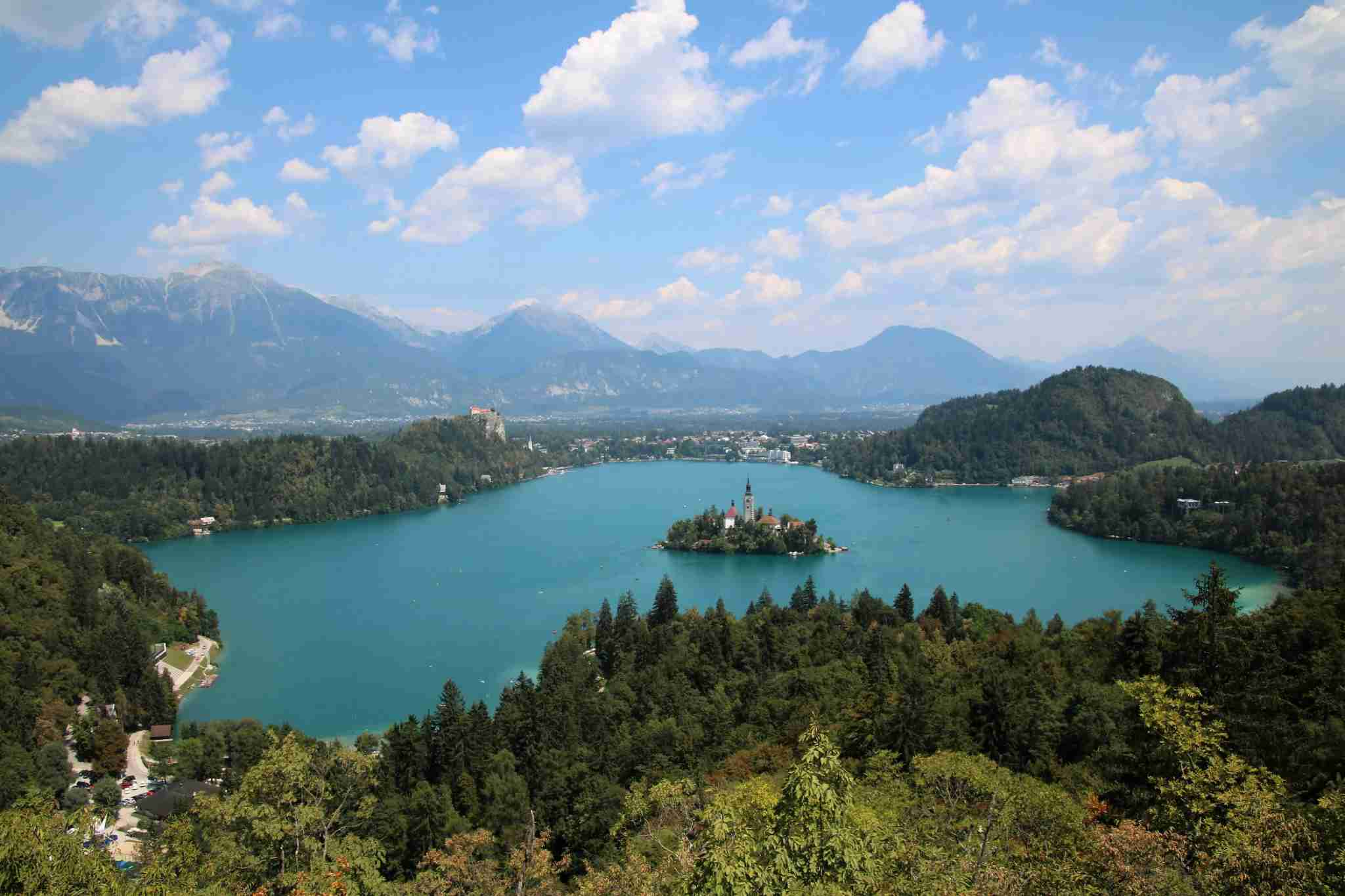 In addition to the remote regions, the trail also passes through the famous town of Bled. Image courtesy of the author.