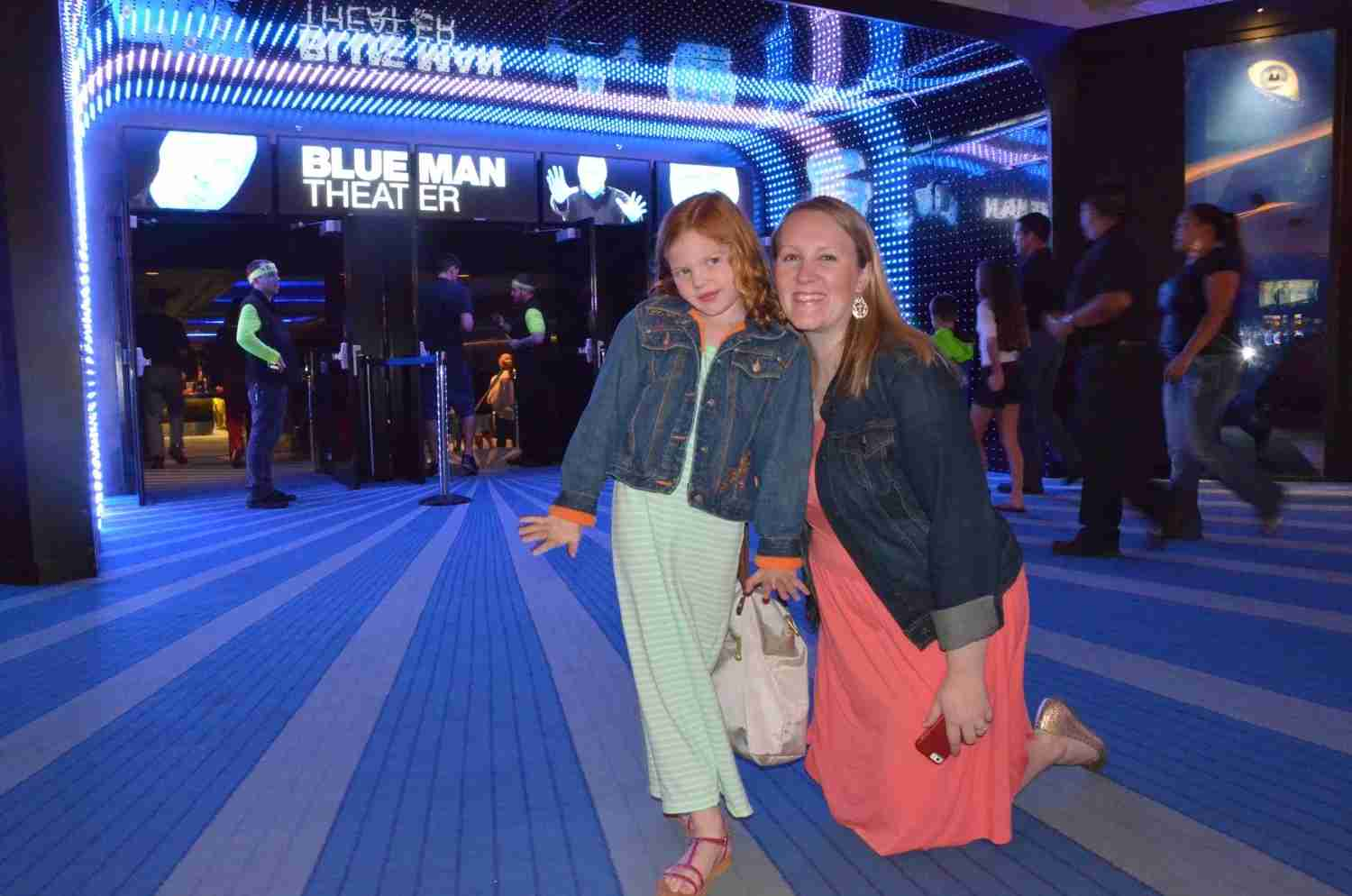 Las Vegas with kids - Blue Man Group show