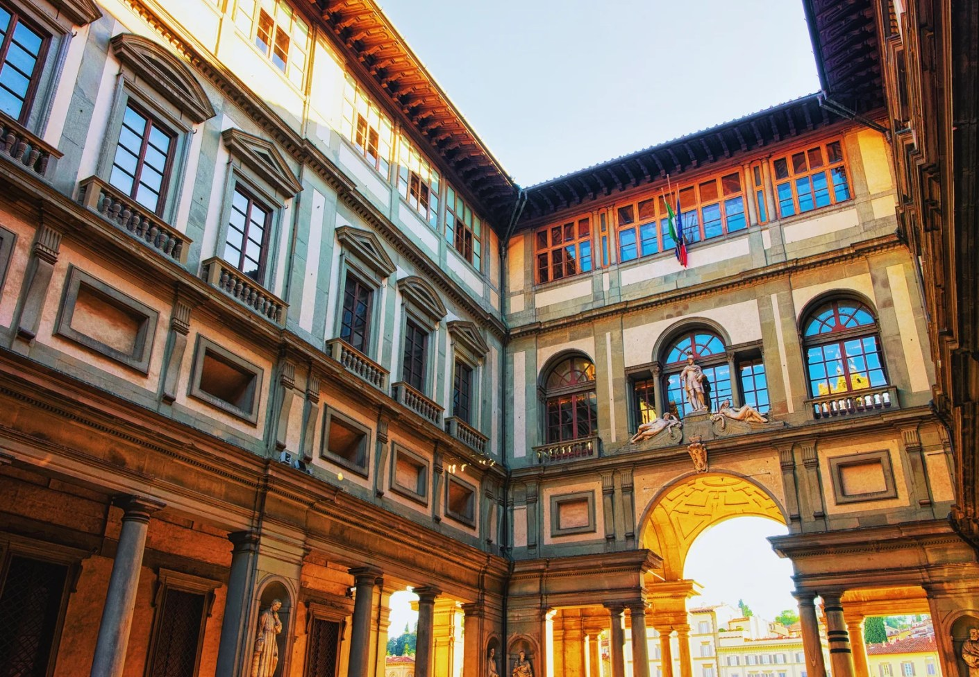 The Uffizi Gallery in Florence. (Photo by RomanBabakin / Getty Images)
