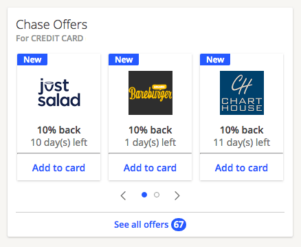 chase account deals
