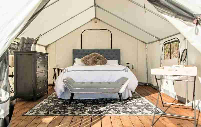 It was only a matter of time before the glamping trend made its way to the Hamptons. (Photo courtesy of Terra Glamping.)