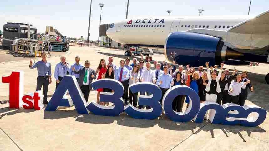 Delta celebrates its first Airbus A330-900neo (Photo courtesy of Delta Air Lines)