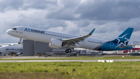 Air Transat Gets Its First Long-Range Airbus A321