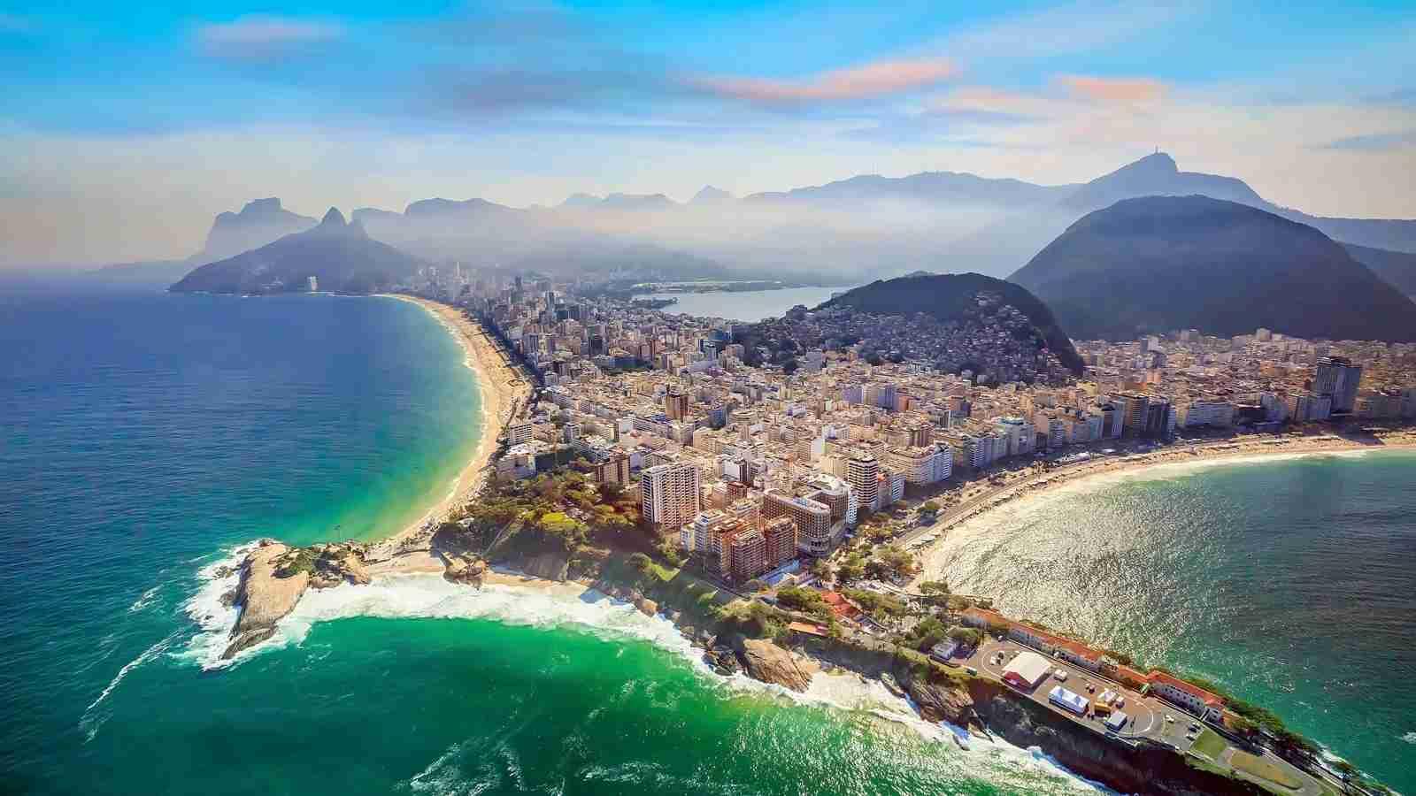 Copacabana Beach and Ipanema beach, Rio de Janiero. (Photo by f11photo / Getty Images)