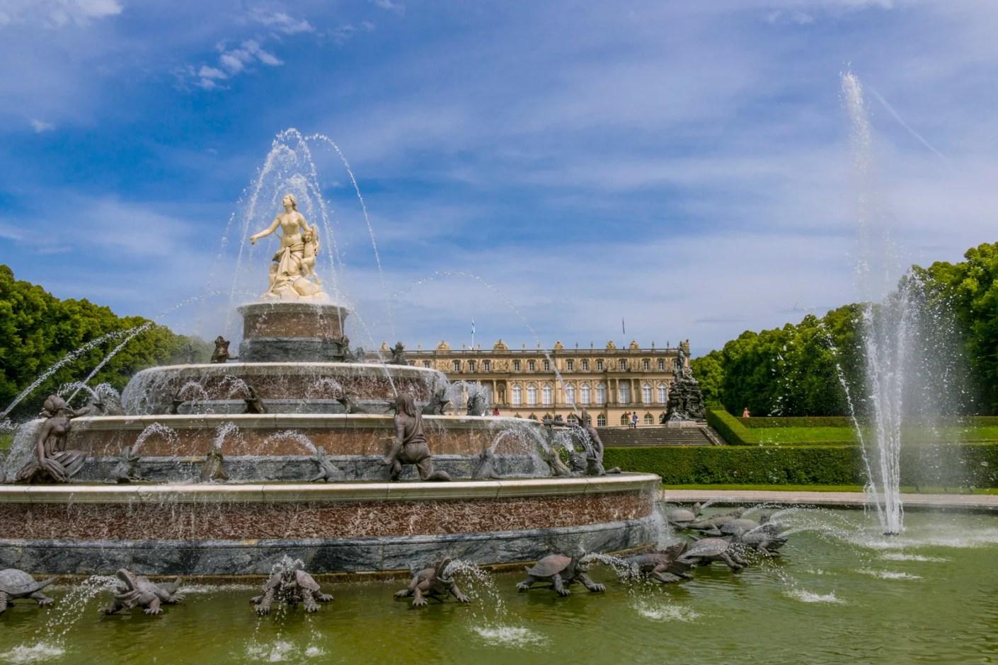 Latona Fountain, Herrenchiemsee Palace, Herreninsel. (Photo by footageclips / Shutterstock)