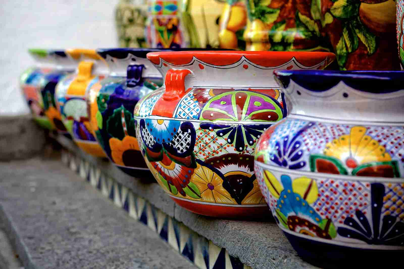 Talavera pottery in Puebla, Mexico. (Photo by marcviln / Getty Images)