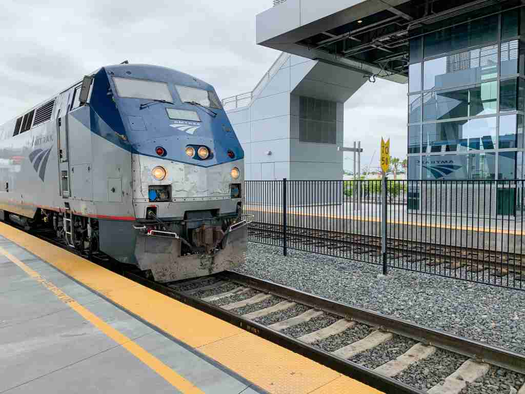 The Amtrak Surfliner Train. (Photo by Summer Hull / The Points Guy)