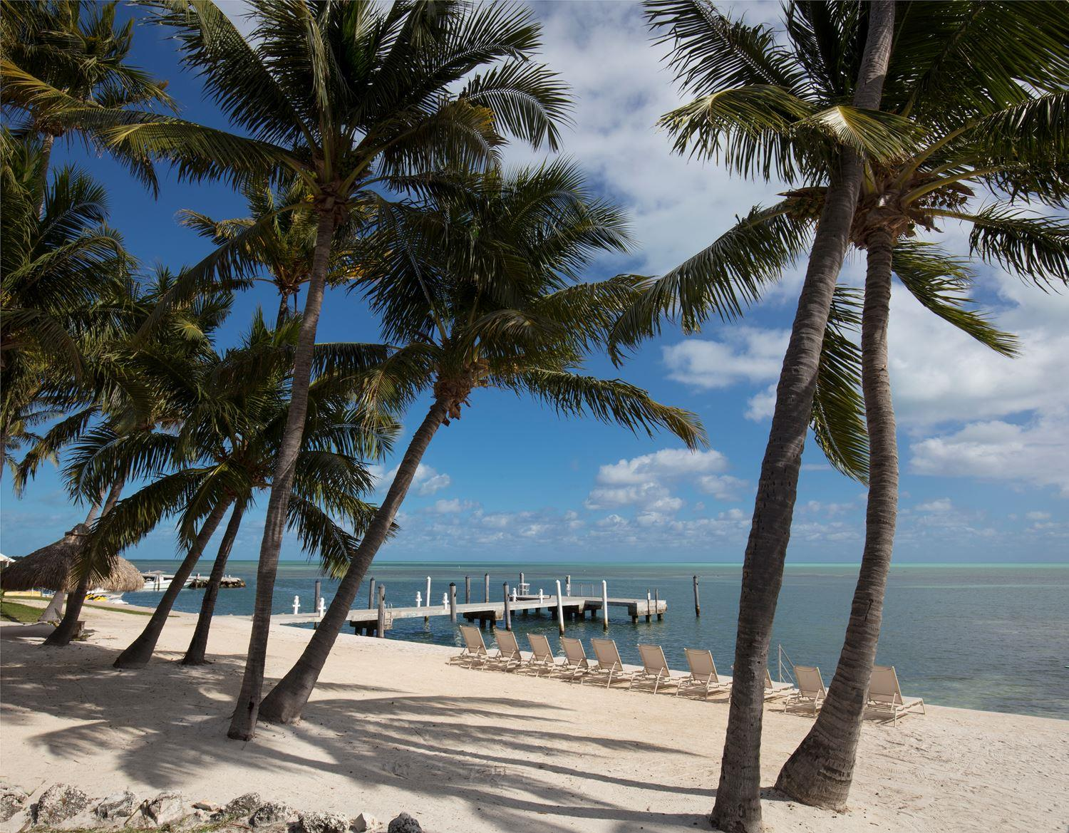 Amara Cay Resort beach and pier. (Photo courtesy of the hotel).