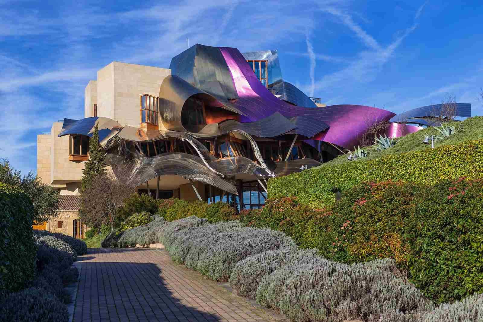 Marques de Riscal Hotel, a Frank Ghery building, Spain