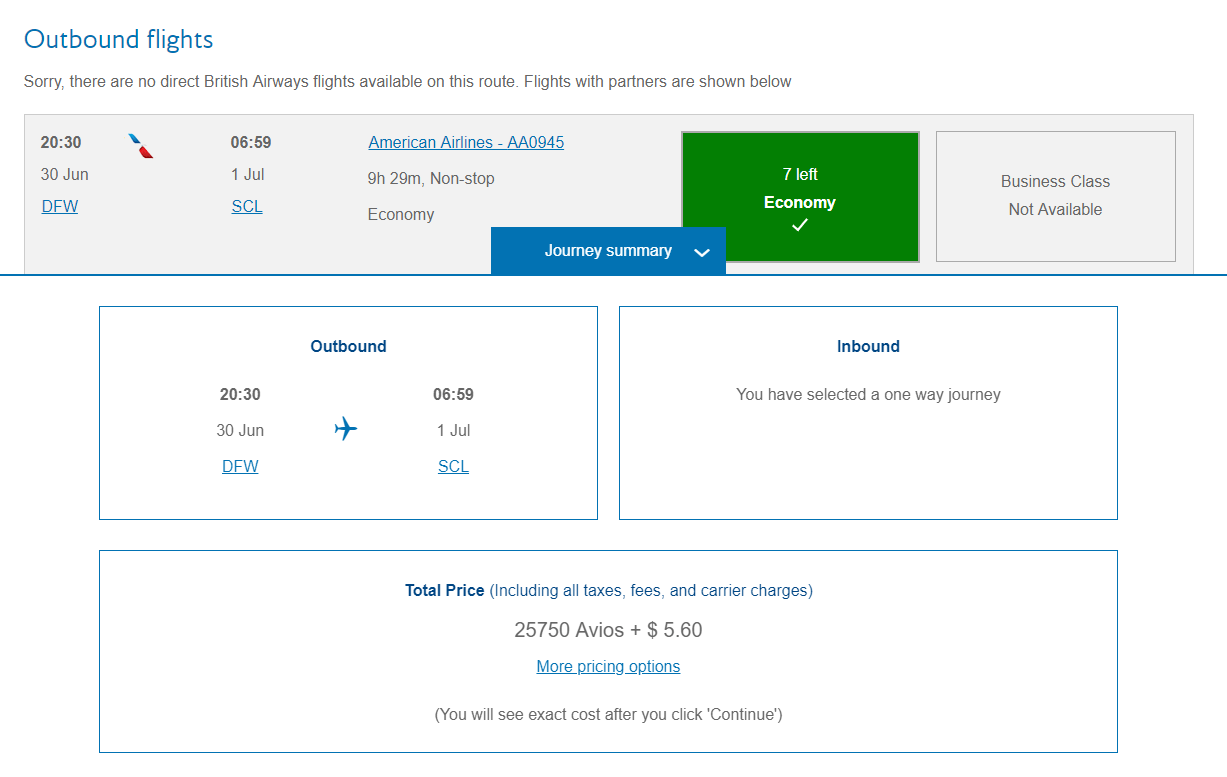 You can book the same AA flight with BA Avios for 4,250 miles less than AA.