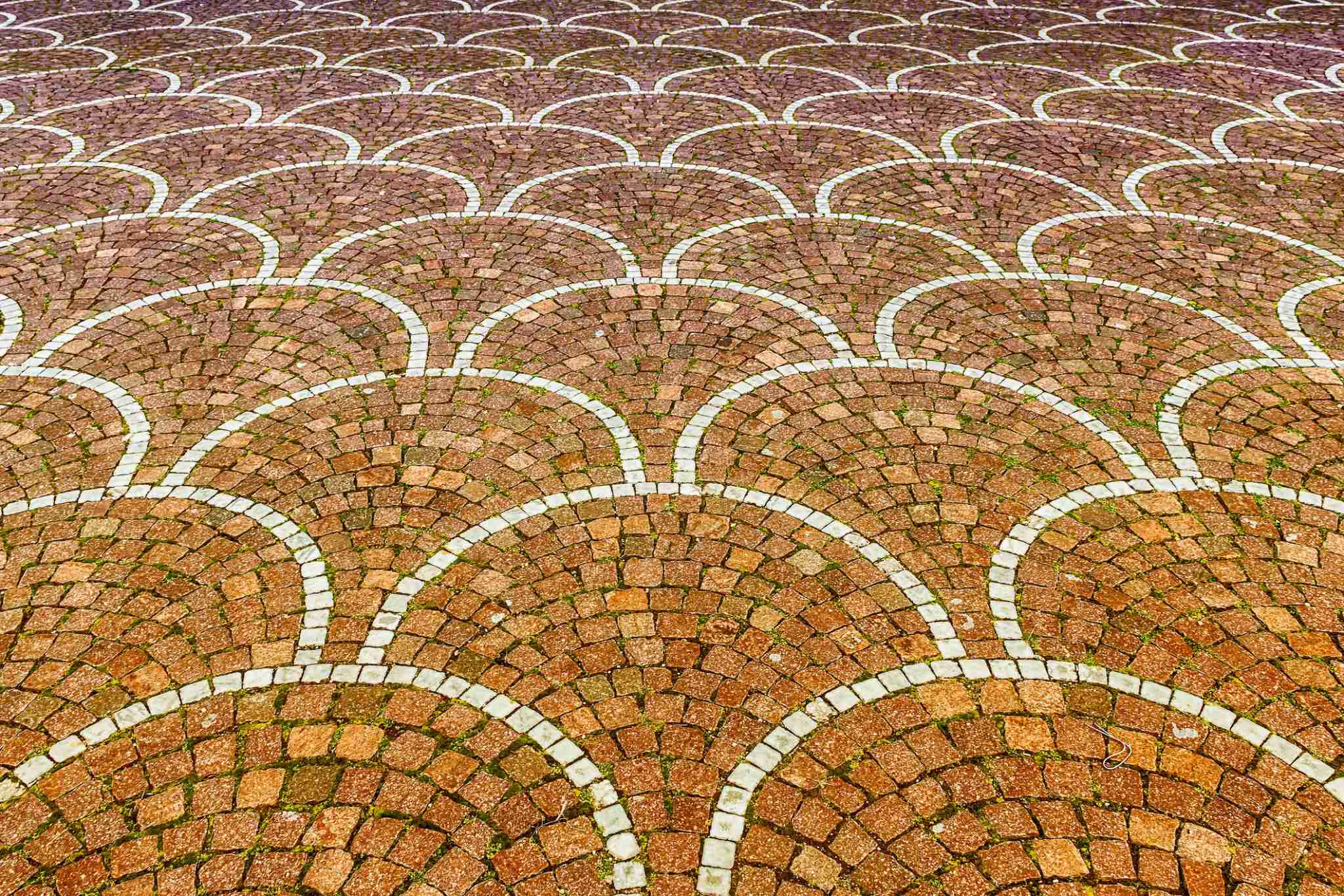 Sampietrini pavement in Rome, Italy. May be used as background (Marco Rubino / EyeEm via Getty Images)