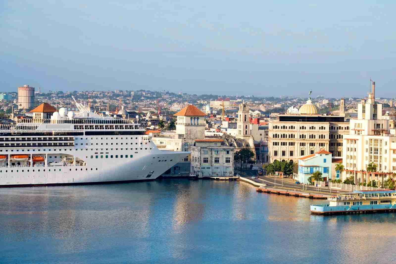 Cuba Cruise ship docked in Havana