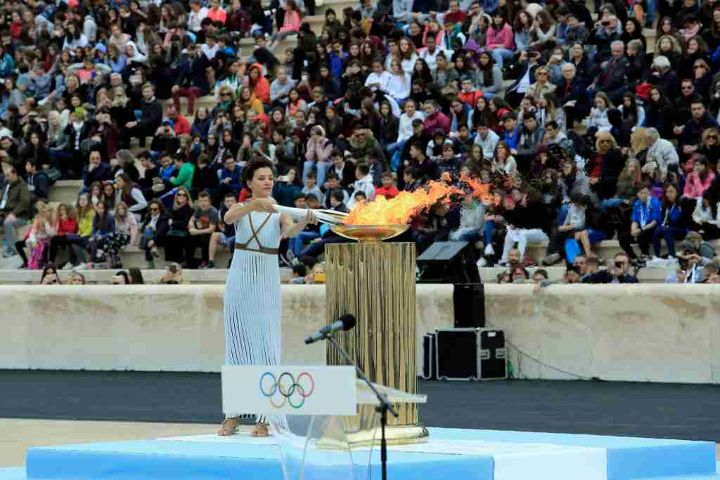 Olympic Torch Lighting Ceremony Greece