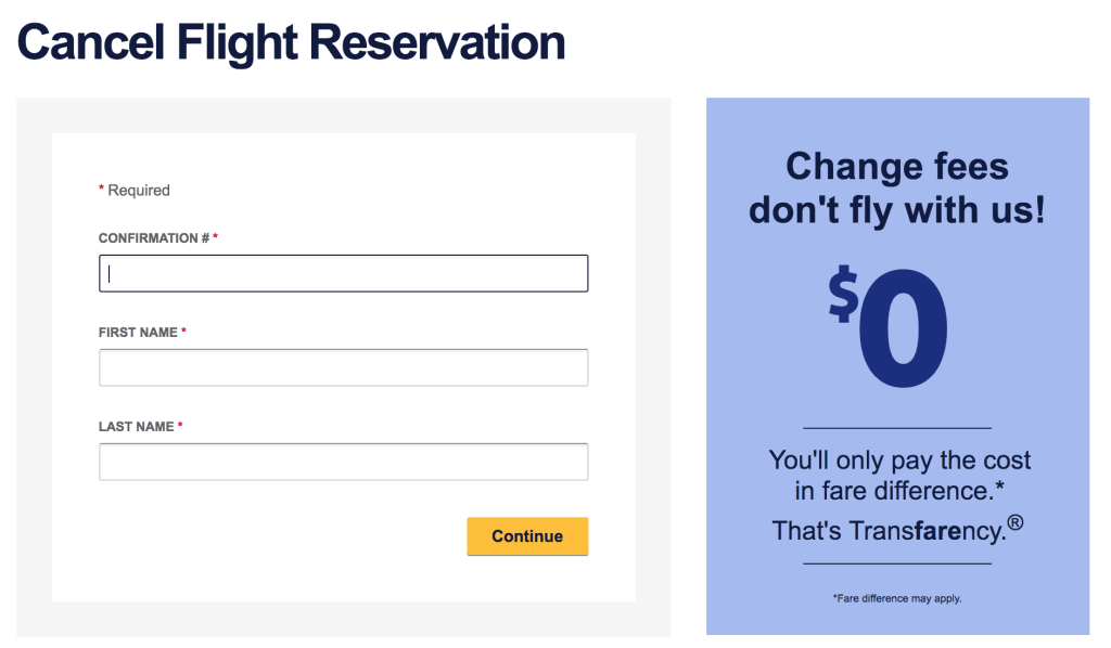 Rebook a Southwest Flight When the Rate Decreases