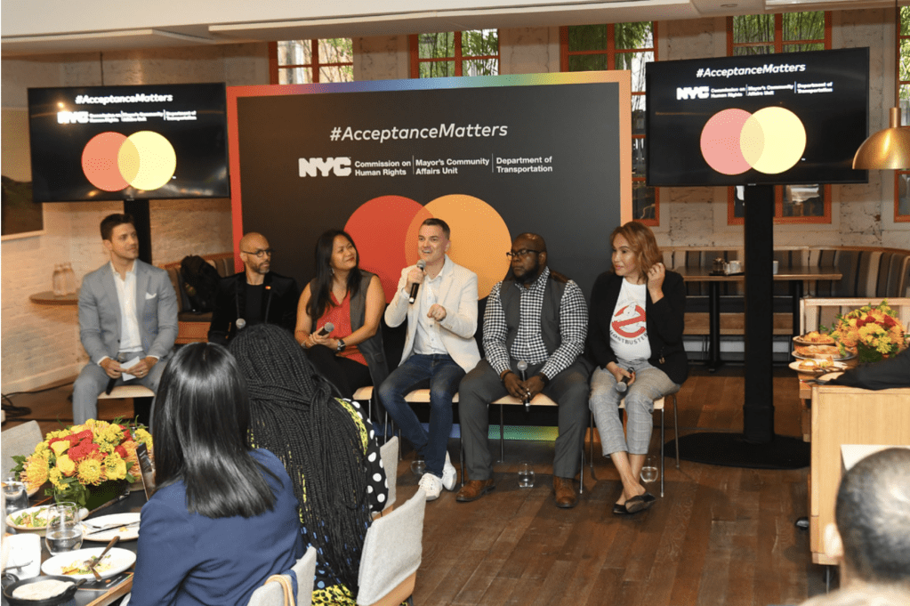 NYC Commission on Human Rights and Mastercard Host #AcceptanceMatters Panel and Unveil Acceptance Street During WorldPride 2019 on June 17, 2019 in New York City. (Photo by Nicholas Hunt/Getty Images for Mastercard)