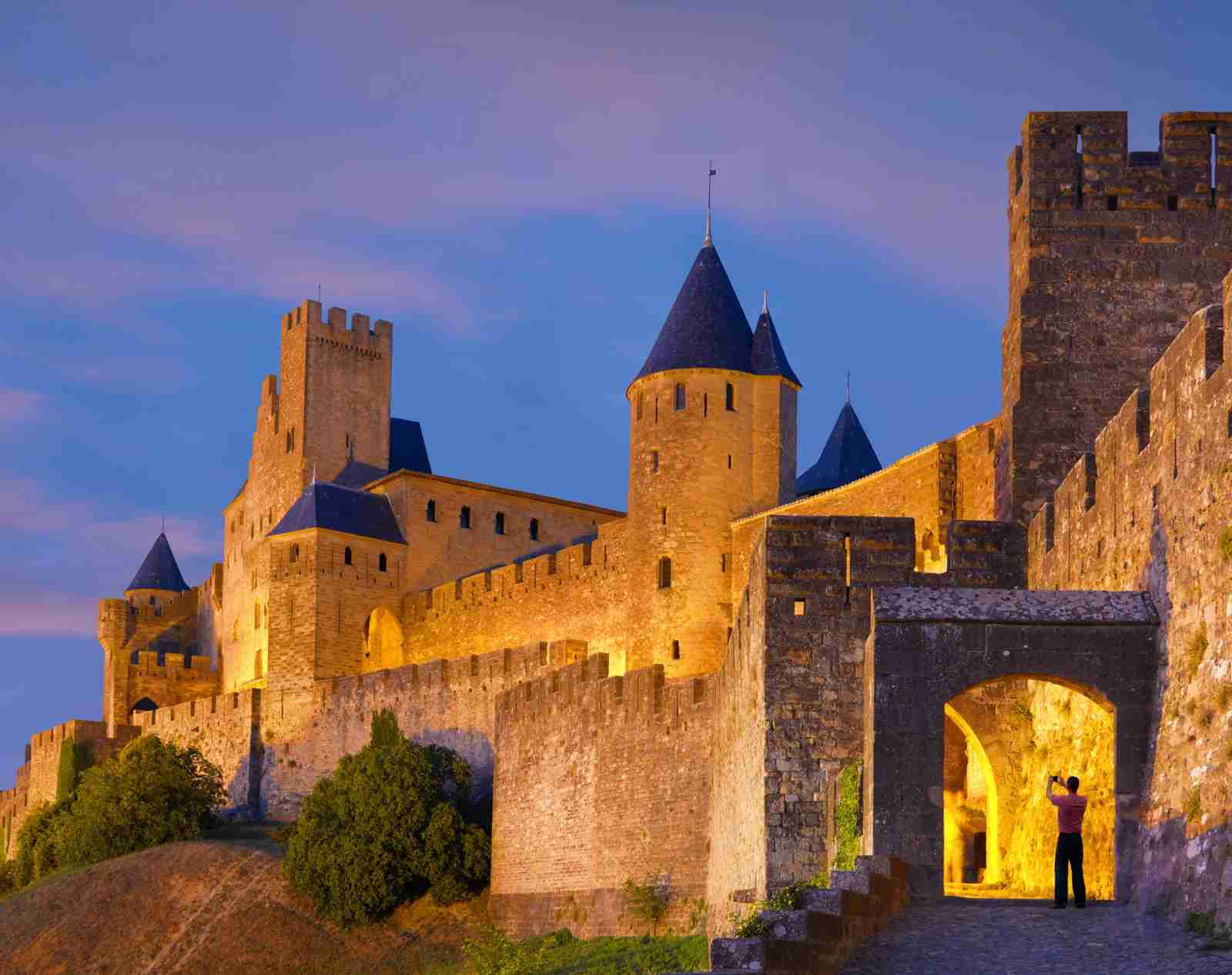 France, Languedoc, Carcassonne, Aude gate