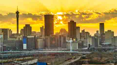 Johannesburg sunrise South Africa Skyline