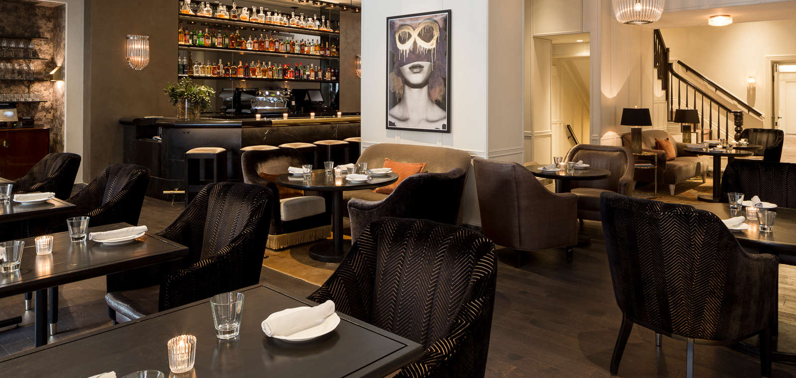 20 East, the on-property dining option at the Talbott Hotel. (Photo courtesy of the hotel)