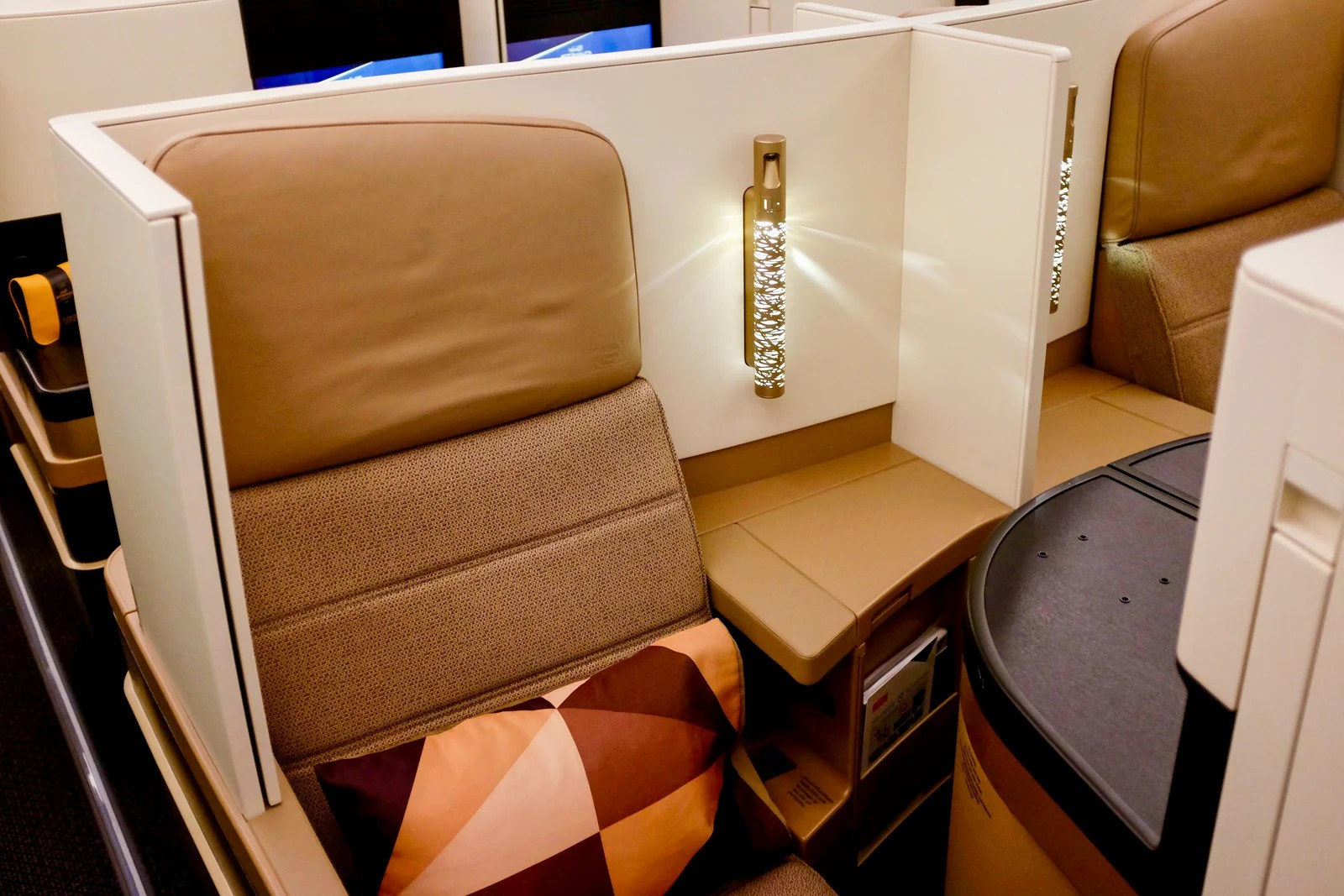 review etihad's 7879 in business class