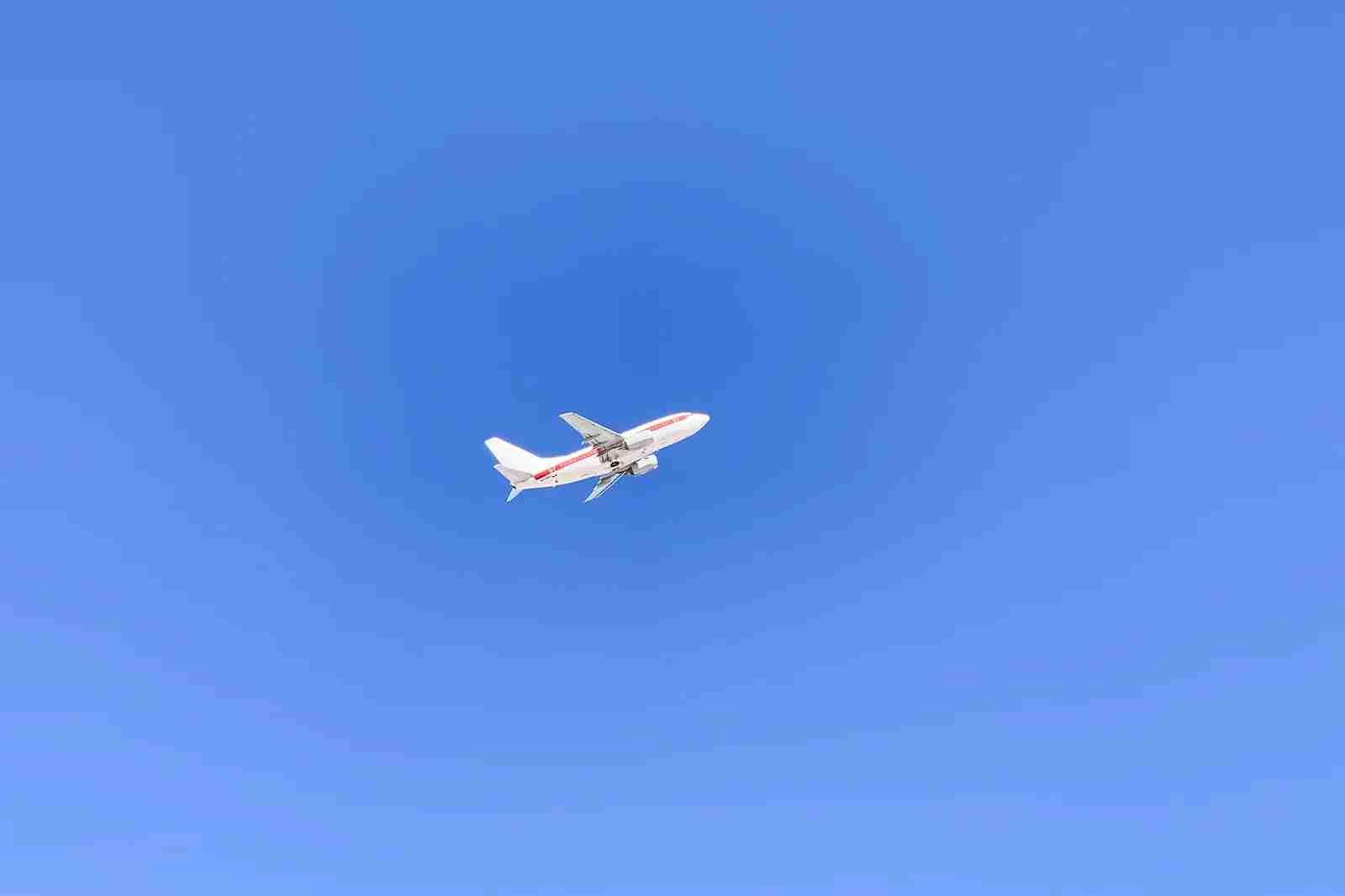 A Janet plane takes off, destination unknown.