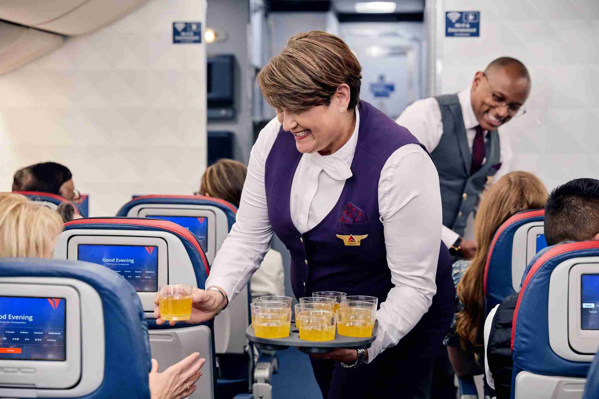 Welcome cocktails are no longer reserved for business class (Photo courtesy of Delta Air Lines)