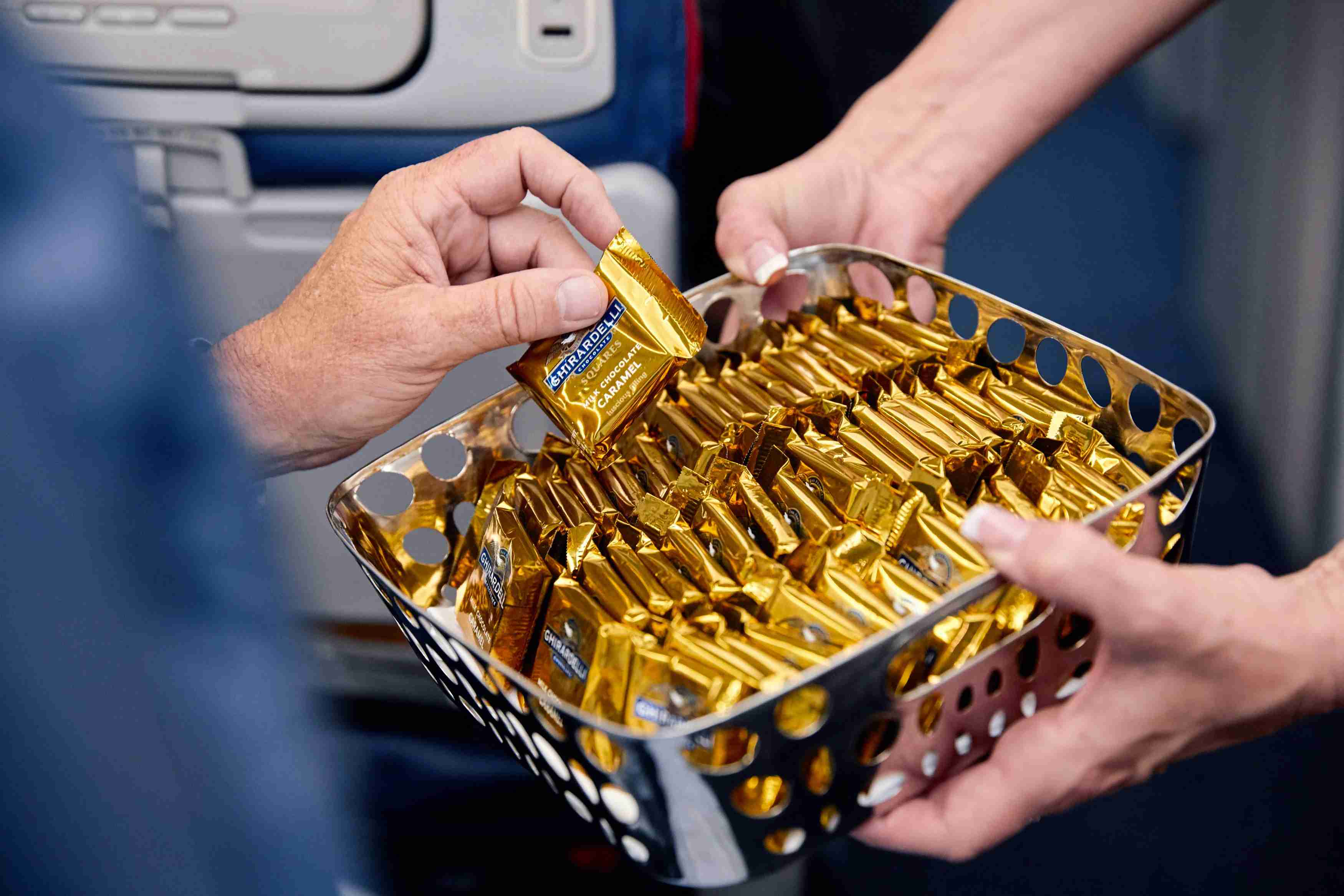 Chocolates will be handed out in the economy cabin prior to landing (Photo courtesy of Delta Air Lines)