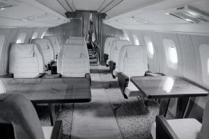 A first class cabin section of the Tupolev Tu-144 supersonic passenger jet aircraft. (Photo by: aviation-images.com/Universal Images Group via Getty Images)