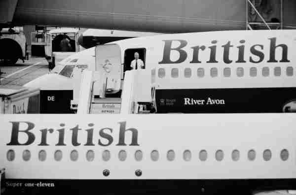 British Airways airplanes at Heathrow Airport in 1983. (Photo by Graham Morris / Daily Express / Hulton Archive / Getty Images)