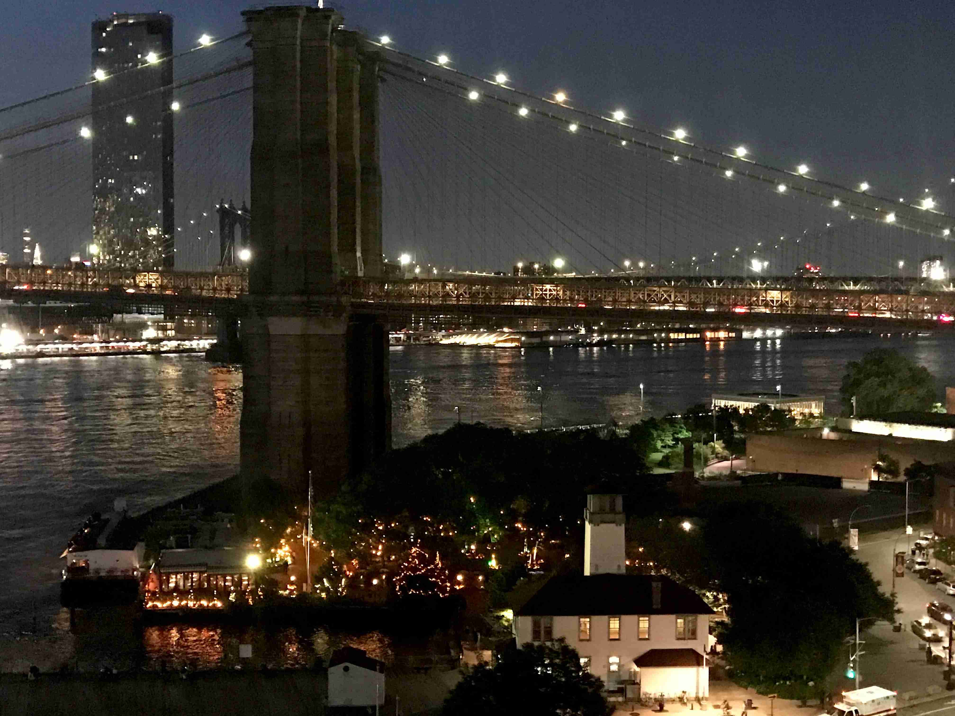 The River Cafe has amazing views of the Brooklyn Bridge and Manhattan. (Photo by 2DadsWithBaggage.com)