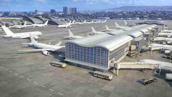 A rendering of the Midfield Satellite Concourse at LAX. (Courtesy of Los Angeles World Airports)