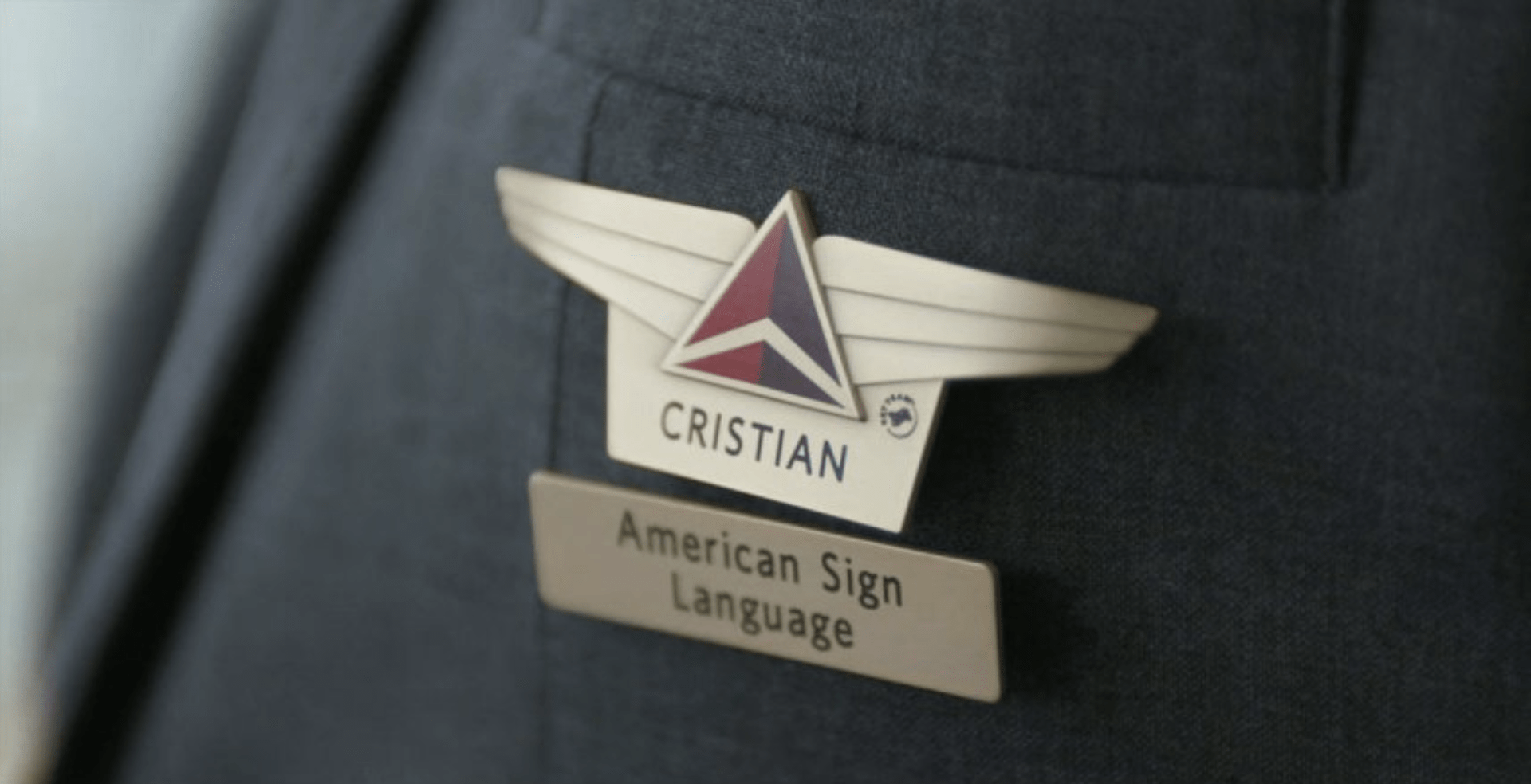 Delta Will Add Sign Language Badges to Company Uniforms