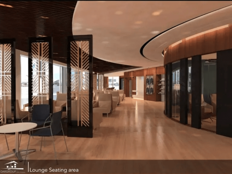 The Ahlein Premium Lounge at Cairo International Airport (Image courtesy of Dar Group)